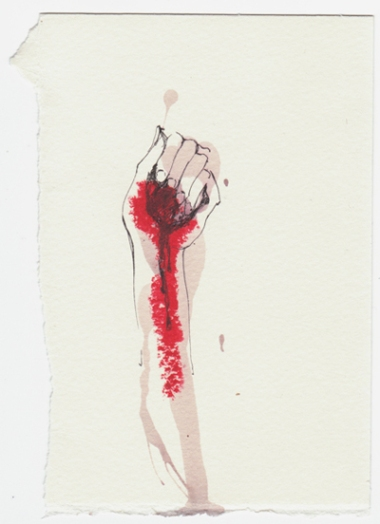 Red wine, Lipstick, and the World in my hand, Maria Elvorith